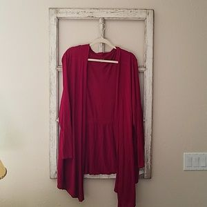 Berry Colored Cardigan